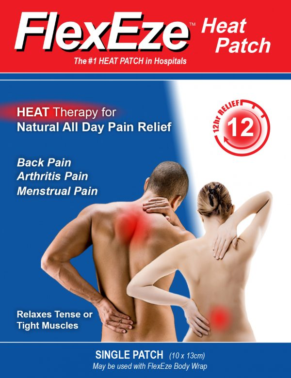 Flexeze Heat Patch is heat Therapy for Natural All Day Pain Relief